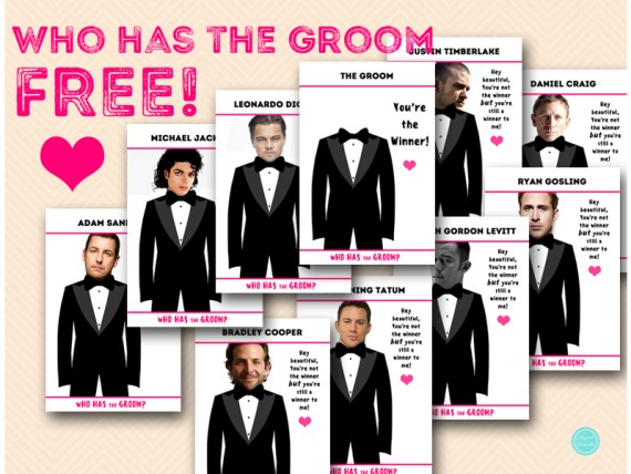 Free Who Has The Groom Bridal Shower Game Printable Bachelorette
