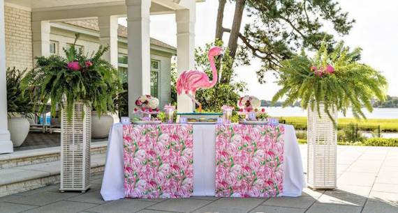 Tropical-Bridal-Shower-Buffet
