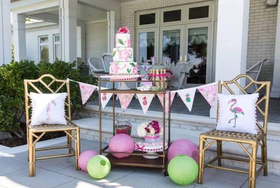 Tropical-Bridal-Shower-Dessert-Cart