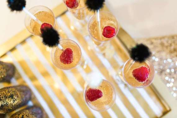 Golden-Glamour-Bridal-Party-Raspberries