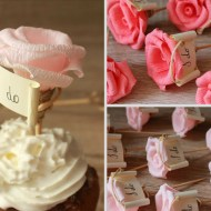 Flower Cupcake Toppers I DO