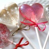 Sparkle Heart Lollipops bridal shower favors hens party