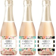 Will You Be My Bridesmaid Custom Mini Champagne Labels
