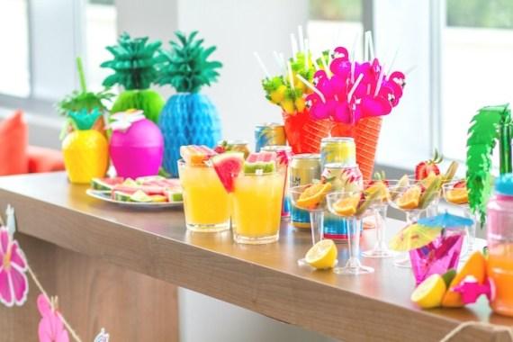 Pink-Tropical-Bridal-Shower-Beverages