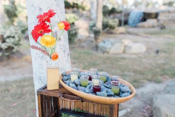 Colorful-Au-Natural-Bridal-Shower-Beverage-Display