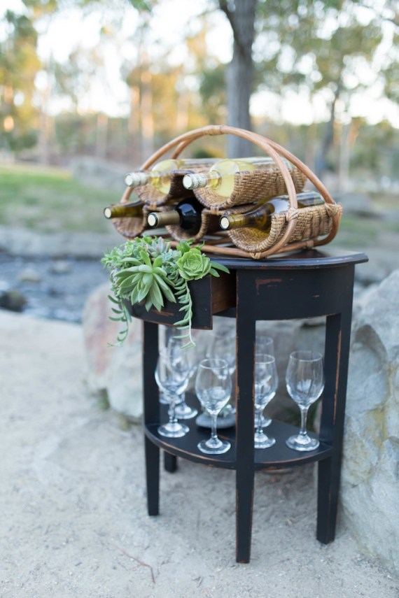 Colorful-Au-Natural-Bridal-Shower-Wine