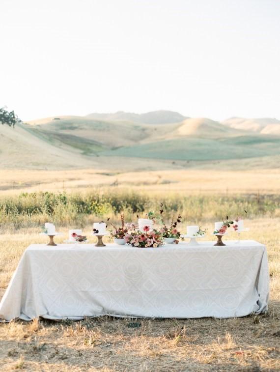 Dreamy Outdoor Bridal Shower dessert tablescape