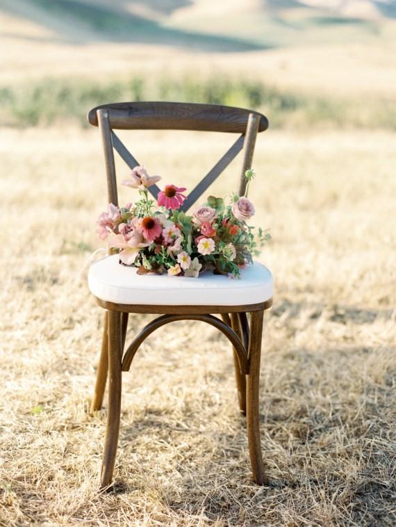 Dreamy Outdoor Bridal Shower floral arrangement