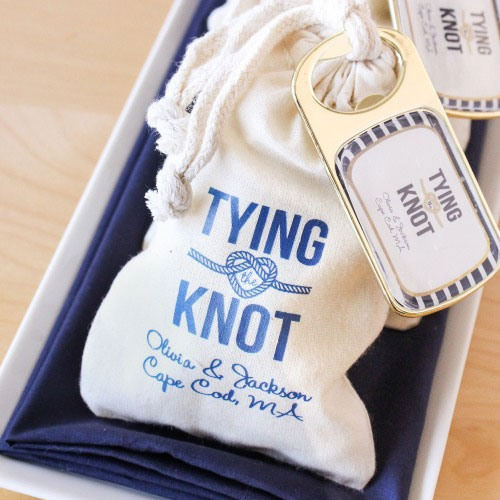 Personalized Natural Cotton Wedding Favor Bag nautical wedding