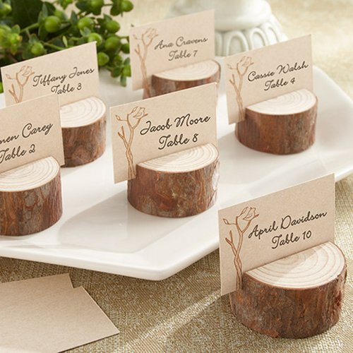 Rustic Real Wood Place Card wedding Photo Holders