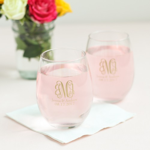 Stemless Wine Glass for wedding favors