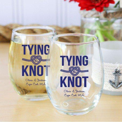 nautical Stemless Wine Glass