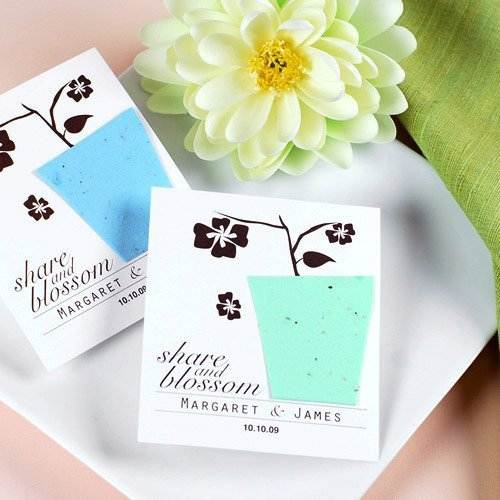 Personalized Plantable Seed Card Favors wedding favor