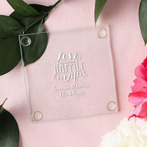 wedding glass coasters favor ideas unique