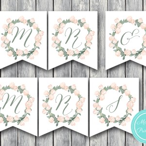Wedding Banner Printable, Mr and Mrs Banner, Instant Download