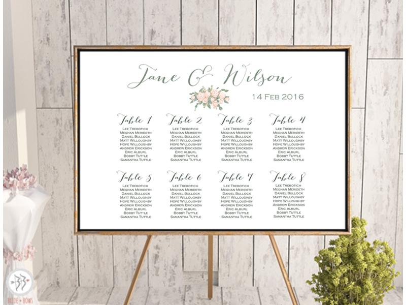 Custom Wedding Seating Chart - Free Wedding Seating Charts