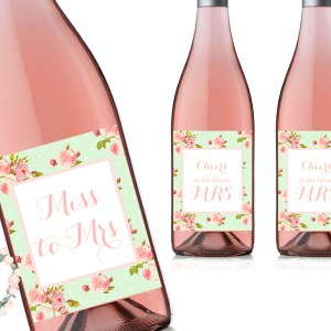 shabby-chic-mint-bridal-shower-decoration-wine-bottle-labels-wd55