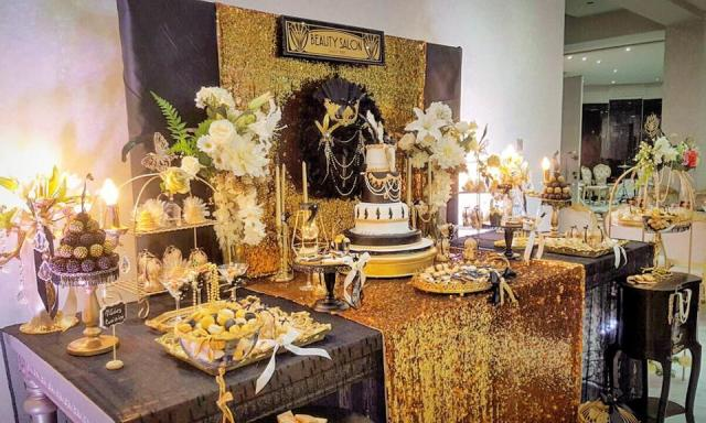 Chic Gatsby Themed Wedding Tablescape
