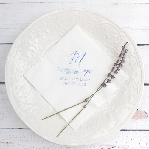 Lavender-Wedding-Ideas-decorated-napkins