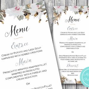 Personalized-Vintage-Floral-Printable-Wedding-Menu-