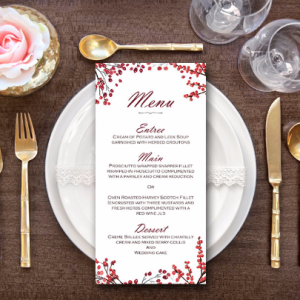 Red-Cherry-Berries-Custom-Printable-Wedding-Menu