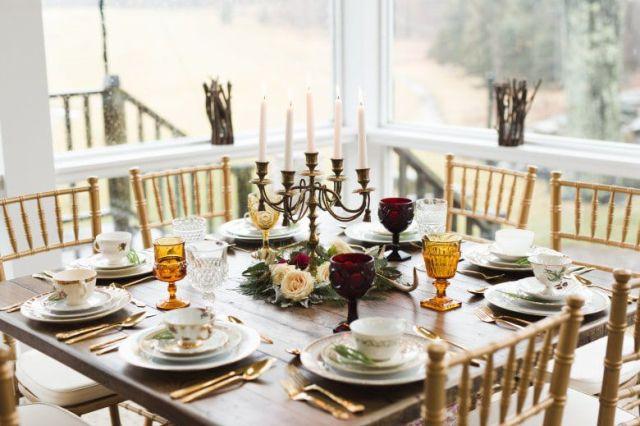 Romantic-Winter-Rustic-Wedding-Guest-Table
