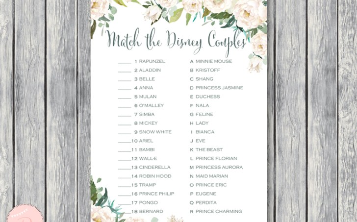 TH61-disney-couple-match-game-ivory-floral-bridal-shower-games