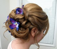 Wedding hair accessories Blue purple dendrobium orchid ...
