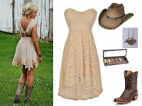 beige bridesmaid dress with cowboy boots  Budget ...