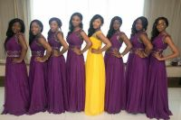 royal purple and gold bridesmaid dresses  Budget ...