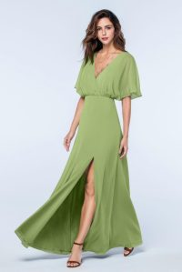 sage green bridesmaid dresses with sleeves  Budget ...