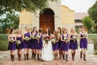 short purple bridesmaid dresses with cowboy boots  Budget ...