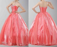 Graceful Strapless Princess Style Prom Dresses  Budget ...
