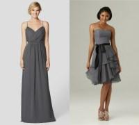 charcoal gray bridesmaid dresses Beach  Budget Bridesmaid