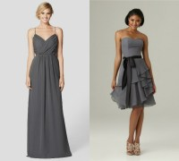 charcoal gray bridesmaid dresses Beach  Budget Bridesmaid ...