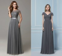 dark gray bridesmaid dresses with short sleeve  Budget ...