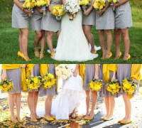yellow shoes with gray bridesmaid dresses  Budget ...
