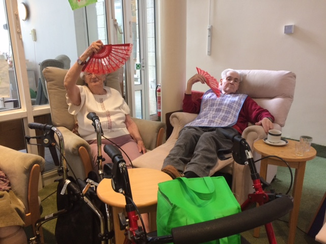 Iris Stanton and Brian Paginton Golden Toes Tropical Summer seated dance class 07.08.17. 2