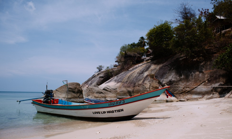 Longtail boat at Haad Thien