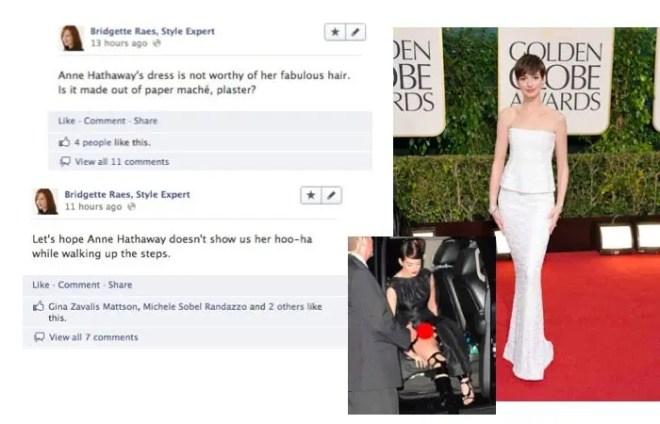 Anne Hathaway 2013 Golden Globes Fashion