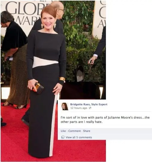 Julianne Moore 2013 Golden Globes Fashion