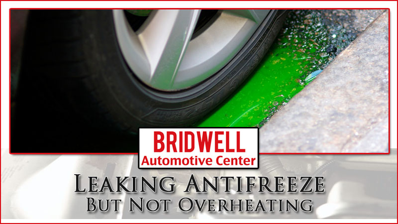 Leaking Antifreeze But Not Overheating Coolant Leak Causes - Bridwell