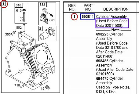 How to find engine replacement part numbers Briggs  Stratton