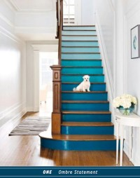 Three Ways To DIY A Colourful Blue Staircase - Bright ...