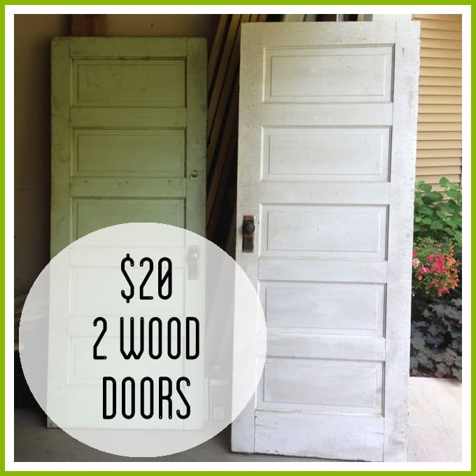 Garage sale finds Vintage garage doors for sale