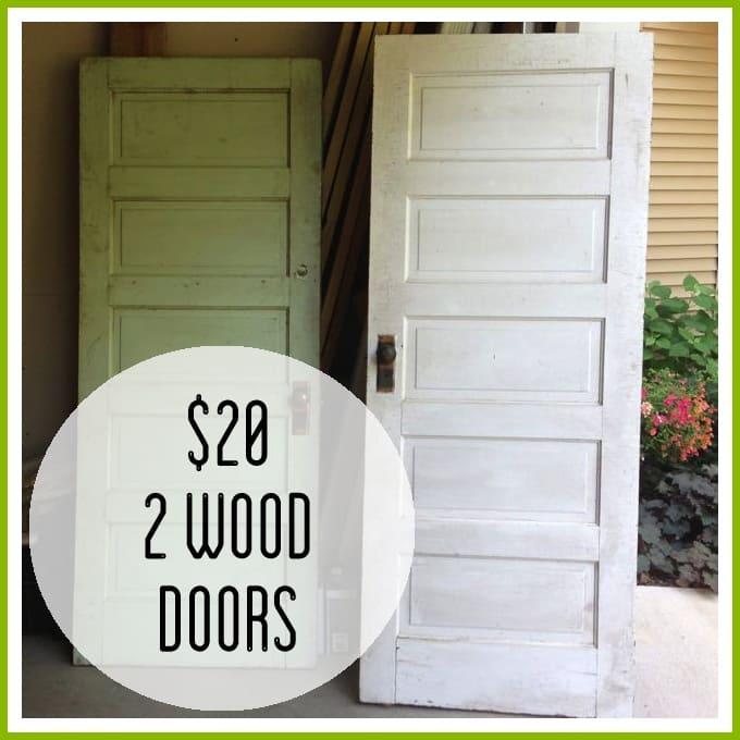 Garage sale finds Vintage garage doors for sale