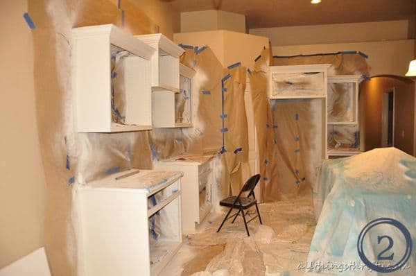 how to spray paint your kitchen cabinets. Black Bedroom Furniture Sets. Home Design Ideas