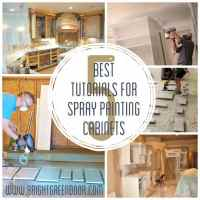 The Best Tutorials for Spray Painting Cabinets