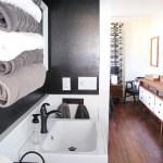 Modern Bathroom with Black Walls