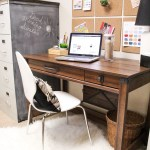 Desk with Chalk Painted File Cabinets